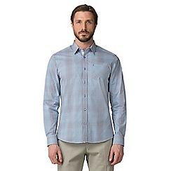 Jeff Banks - Blue graduated check shirt