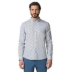 Jeff Banks - Blue flower print shirt