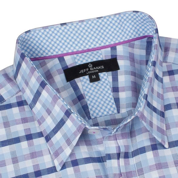 square Jeff shirt check Banks Blue 6qXTRO