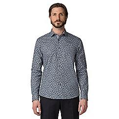 Jeff Banks - Navy rose print shirt