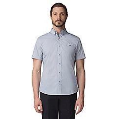 Jeff Banks - Blue micro fish print shirt