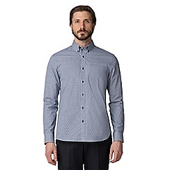 Jeff Banks - Navy cross dobby shirt