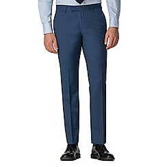Racing Green - Bright blue pick n pick tailored trousers