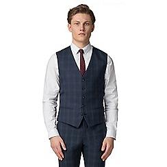 Red Herring - Deep blue burgundy check vest