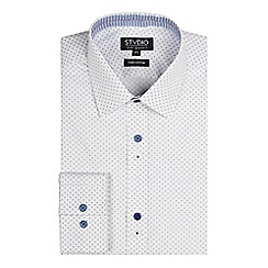 Stvdio by Jeff Banks - White cross print shirt