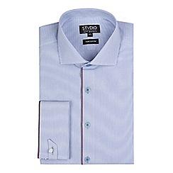 Stvdio by Jeff Banks - Light blue engineered stripe shirt