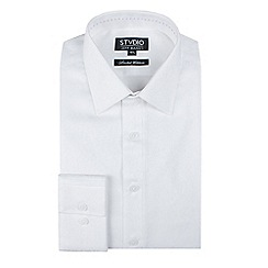 Stvdio by Jeff Banks - Stvdio by jeff banks white floral jacquard shirt