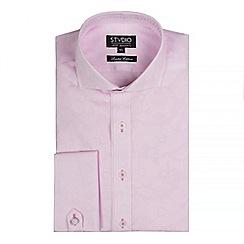 Stvdio by Jeff Banks - Pink stripe floral jacquard shirt