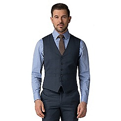 Ben Sherman - Blue jaspe check vest