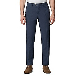 Jeff Banks - Navy diamond jacquard weave trouser
