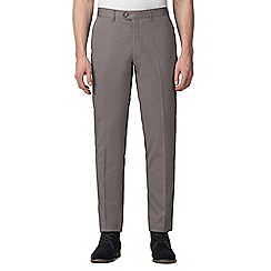 Jeff Banks - Dark grey diamond jacquard weave trouser