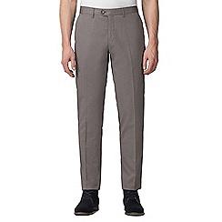Jeff Banks - Dark grey diamond jacquard weave trouser