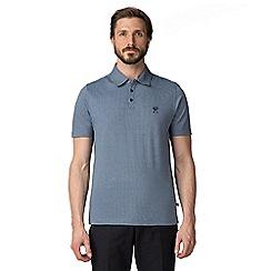 Jeff Banks - Grey Microtooth polo shirt