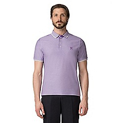 Jeff Banks - Purple Micro polo shirt