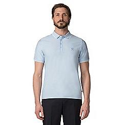 Jeff Banks - Pale Blue Micro polo shirt