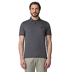 Jeff Banks - Navy square jacquard polo shirt