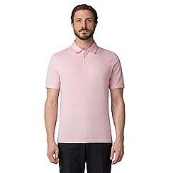 Jeff Banks - Pink dot print polo shirt