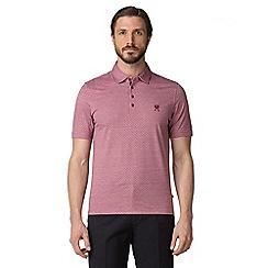 Jeff Banks - Pink kite jacquard polo shirt