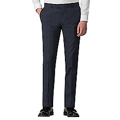 Red Herring - Navy with blue over check skinny fit trousers