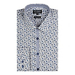 Stvdio by Jeff Banks - Stvdio by jeff banks white tonal floral print shirt