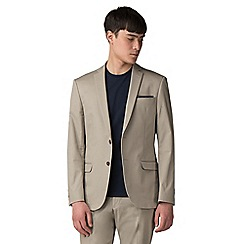 Red Herring - cream cotton slim fit jacket