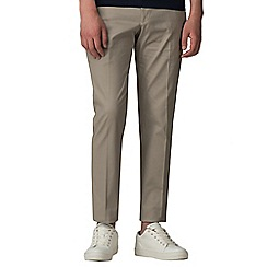 Red Herring - cream cotton slim fit trousers
