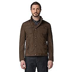 Jeff Banks - Khaki four pocket harrington jacket