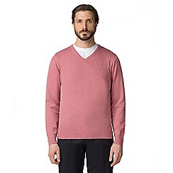 Jeff Banks - Dark pink V-neck jumper