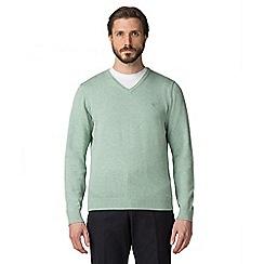 Jeff Banks - Mint green V-neck jumper