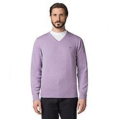 Jeff Banks - Purple V-neck jumper