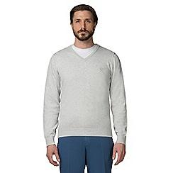 Jeff Banks - Pale grey V-neck jumper