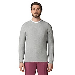 Jeff Banks - Grey link stitch crew crew jumper