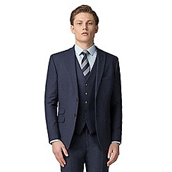 Red Herring - Deep blue donegal slim fit suit