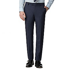 Red Herring - Deep blue donegal slim fit trousers