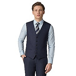 Red Herring - Deep blue donegal slim fit vest