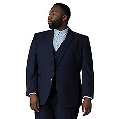The Collection - Blue semi plain big and tall jacket