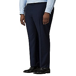 The Collection - Blue semi plain big and tall trousers
