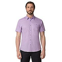Jeff Banks - Lilac micro floral print shirt