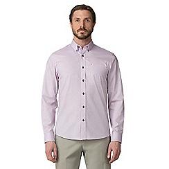 Jeff Banks - Pink jacquard print shirt