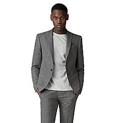 Red Herring - Grey high twist texture skinny fit jacket