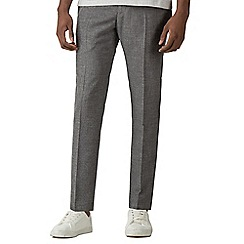 Red Herring - Grey high twist texture skinny fit trousers