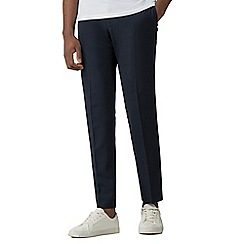 Red Herring - Navy seersucker skinny fit trousers