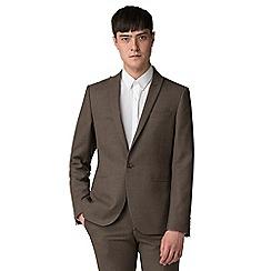 Red Herring - Brown jaspe skinny fit suit