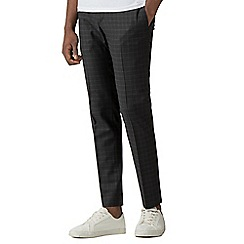 Red Herring - Charcoal soft grid check skinny fit trousers
