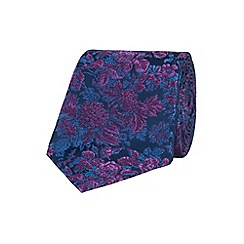 Stvdio by Jeff Banks - Purple graduated floral tie