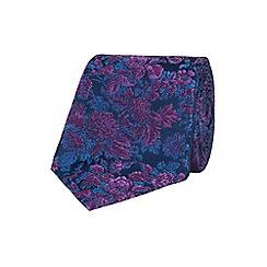 Stvdio by Jeff Banks - Purple graduated floral tie