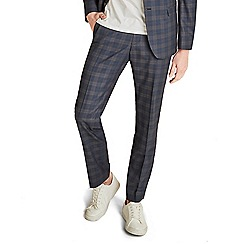 Ben Sherman - Midnight with tan overcheck skinny fit trousers