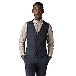Ben Sherman - Midnight with tan overcheck waistcoat