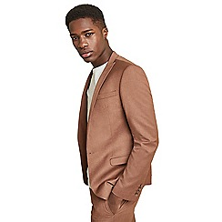 Ben Sherman - Tan textured skinny fit jacket