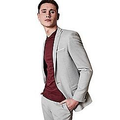Ben Sherman - Cool grey crepe weave skinny fit jacket